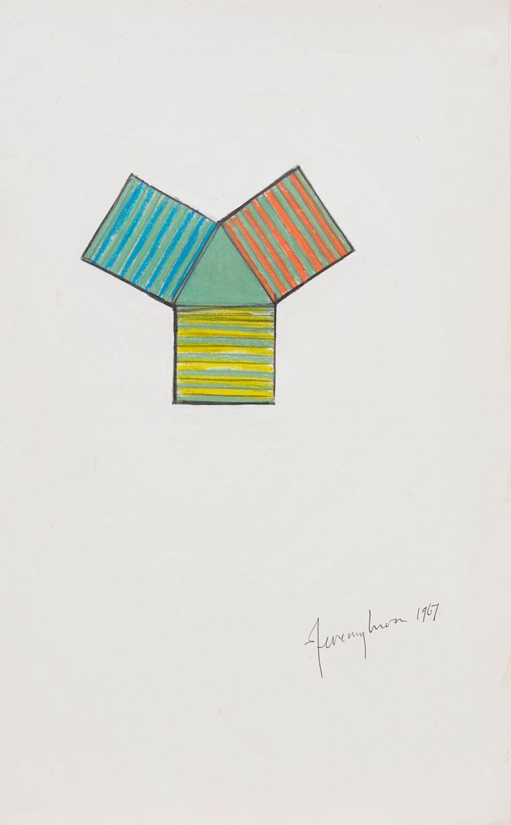 Jeremy Moon, Drawing (Study for Fountain), 1967