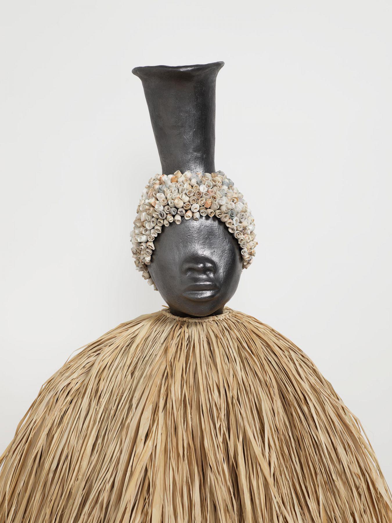 Simone Leigh, Figure with Skirt (Face Jug Series), 2018