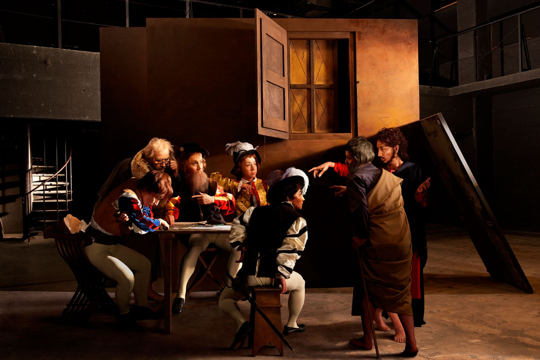 Yasumasa Morimura, Self-Portraits through Art History (Caravaggio/Who is Matthew?), 2016