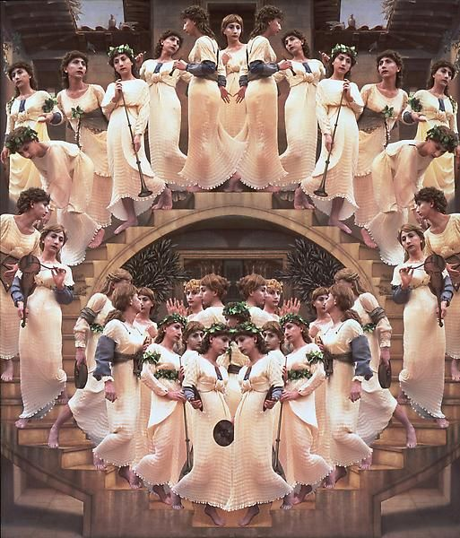 Yasumasa Morimura Angels Descending Staircase, 1991