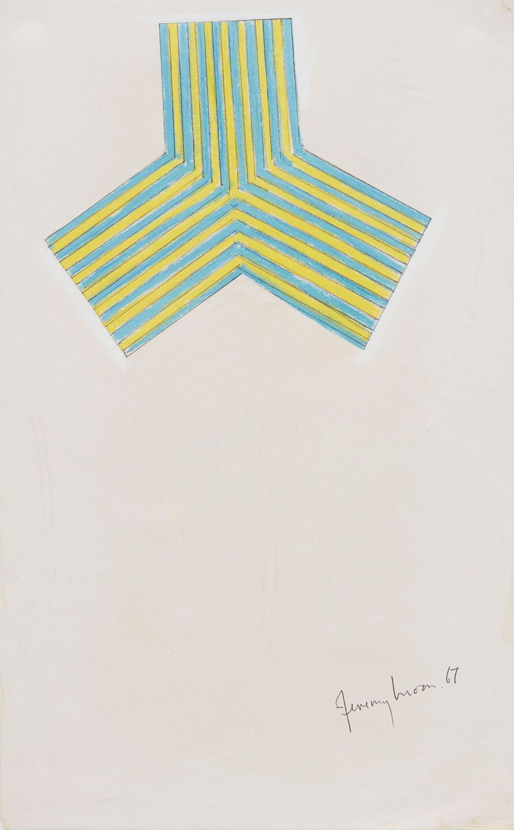 Jeremy Moon, Drawing (Study for Electric Blue),1967