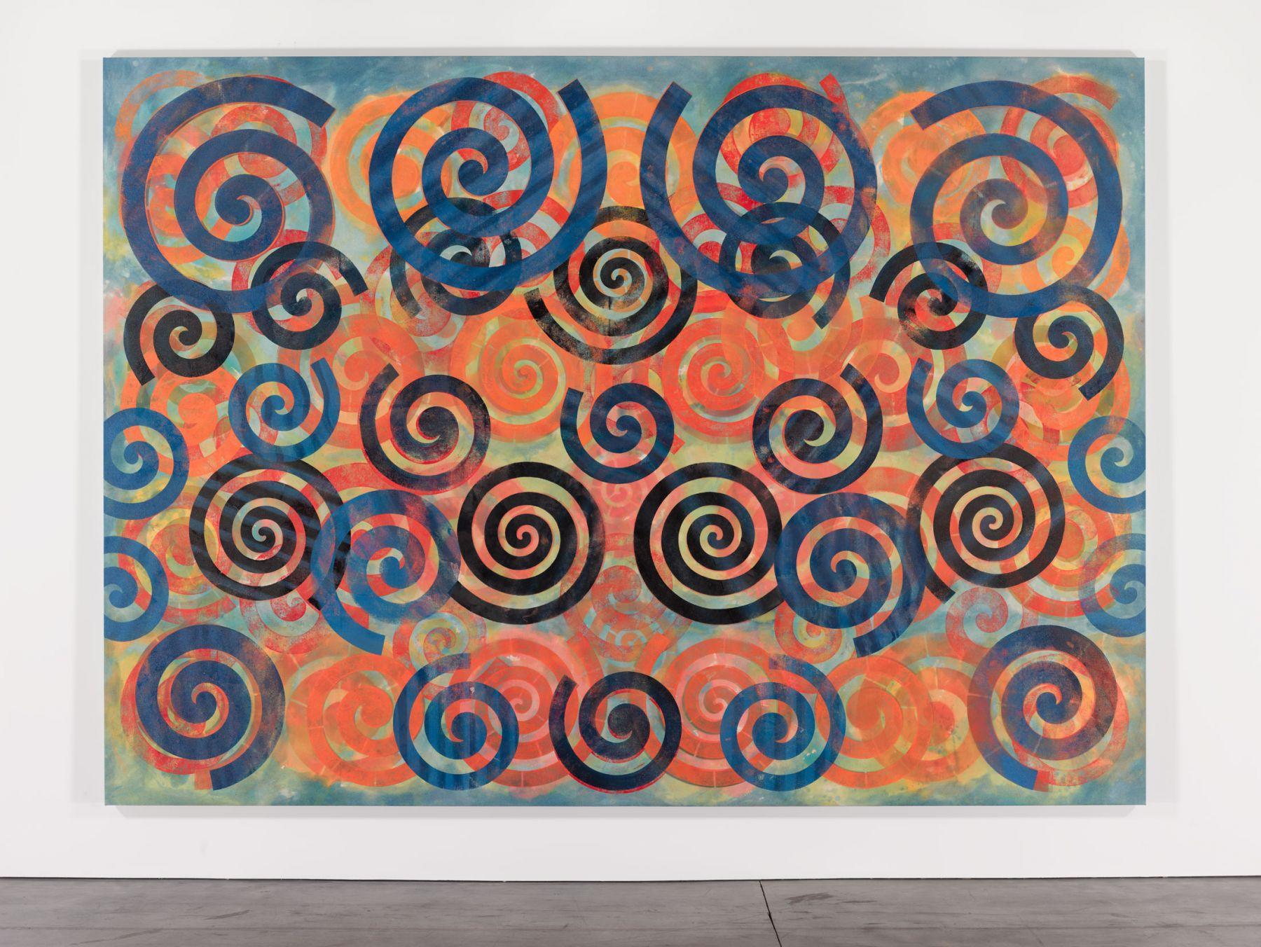 Philip Taaffe Spiral Painting II, 2015