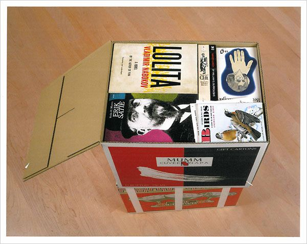 carton with books