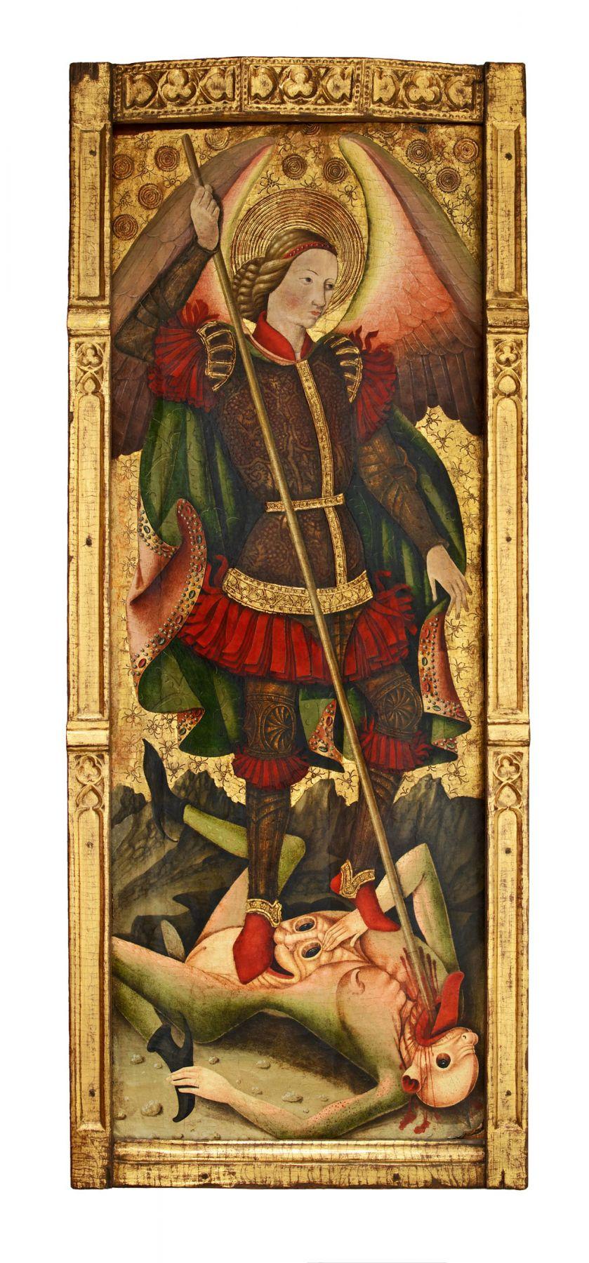 Maestro de los Florida(Juan de Bonilla? doc. 1442-78), Saint Michael Vanquishing the Devil