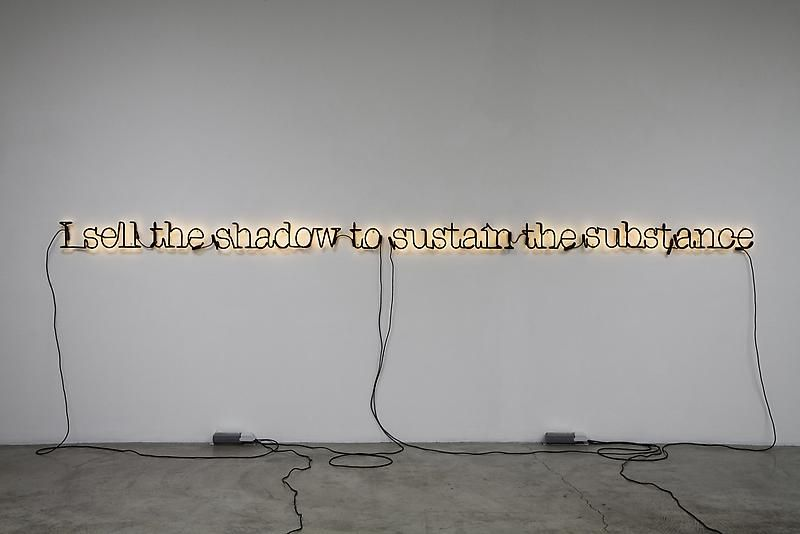 Glenn Ligon, Untitled (I Sell the Shadow to Sustain the Substance), 2006