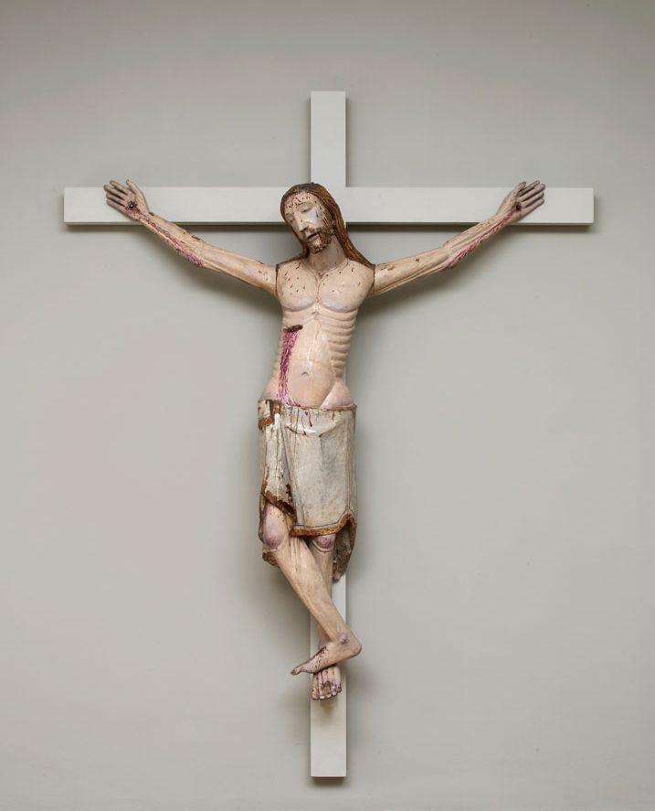 A life-sized polychromed corpus of Christ, Aragón,North-eastern Spain