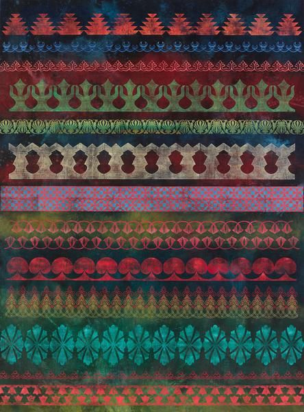 Philip Taaffe Nocturne with Architectural Fragments, 2014