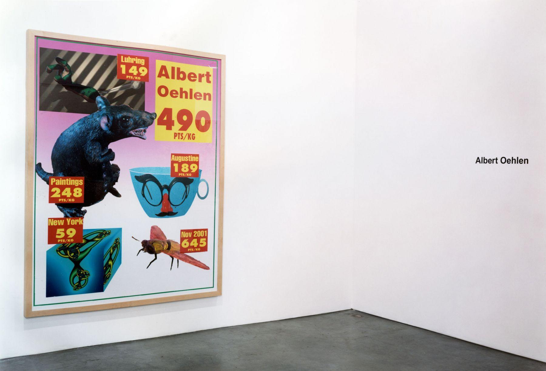 Albert Oehlen, Installation view