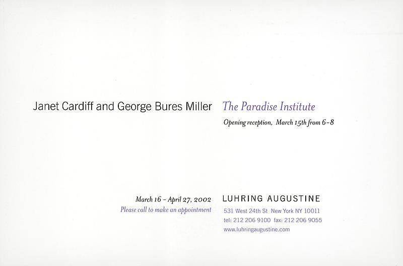 Announcement card (back)