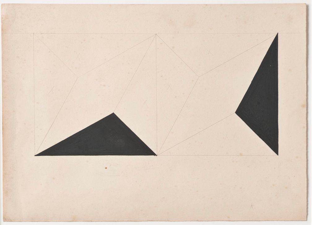 Lygia Clark Estudo para Planos em superfície modulada (Study for Planes in modulated surface), 1952