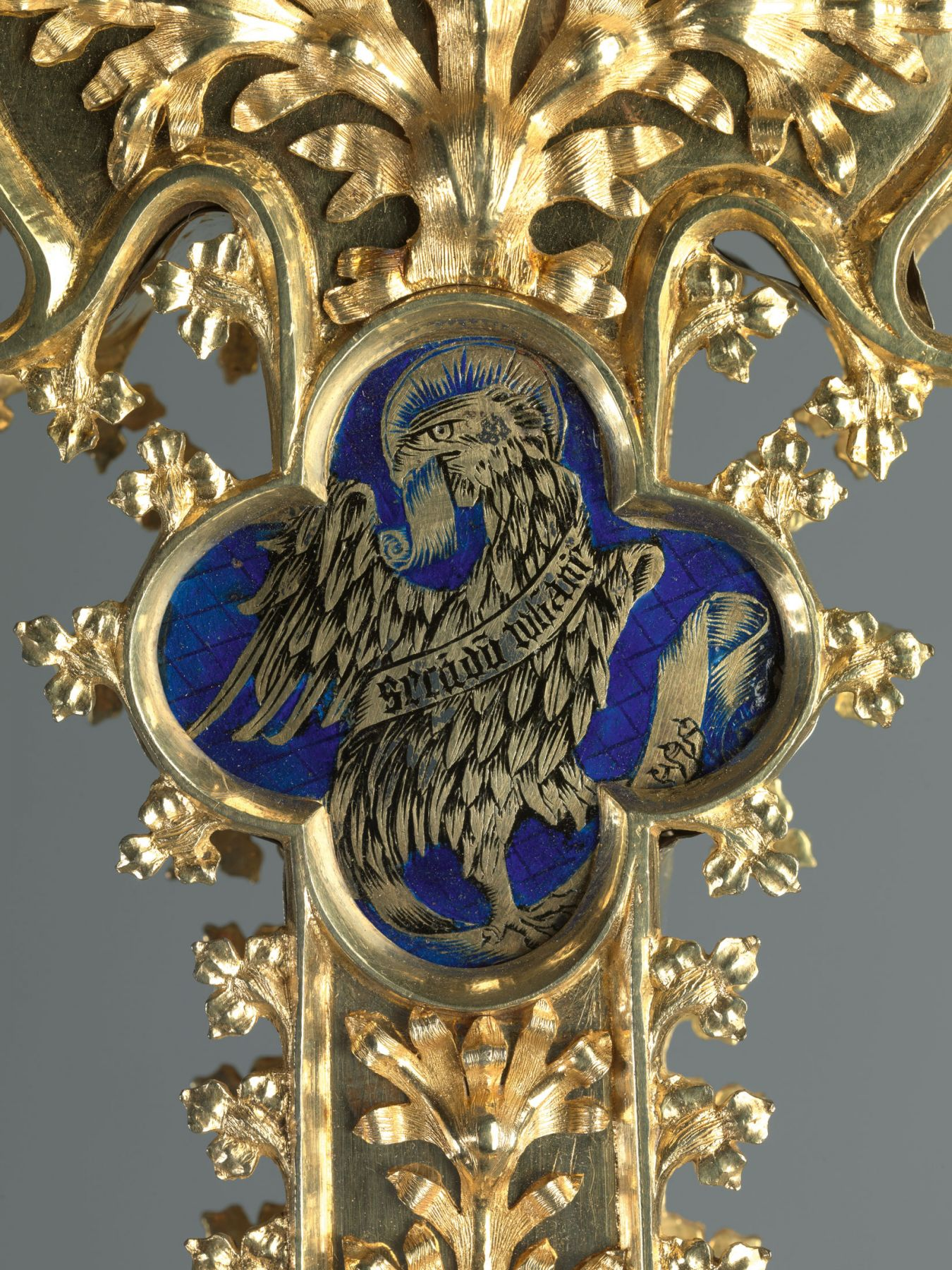 A large processional cross (detail), Barcelona (?),Spain