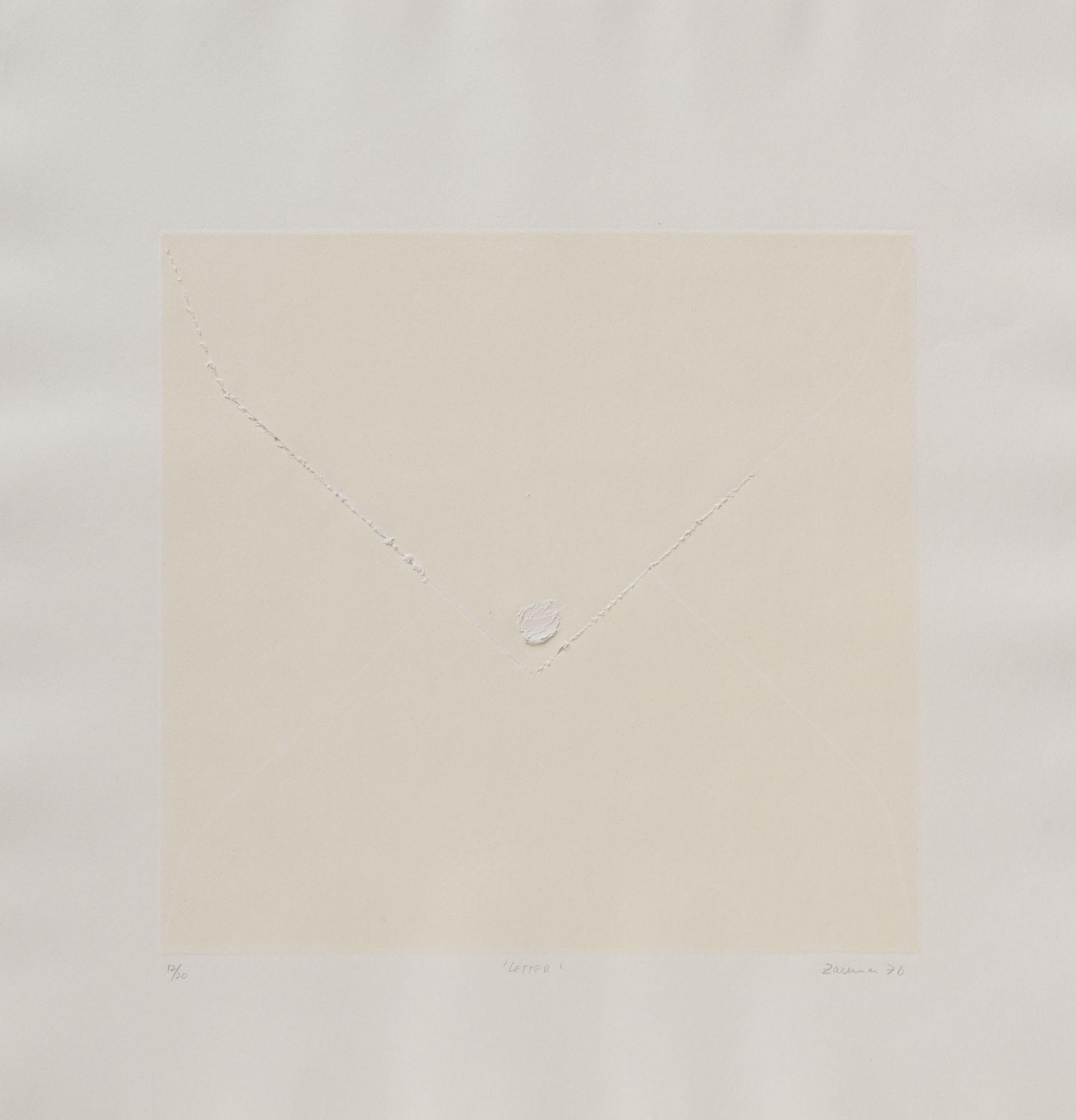 Zarina, Letter, 1976