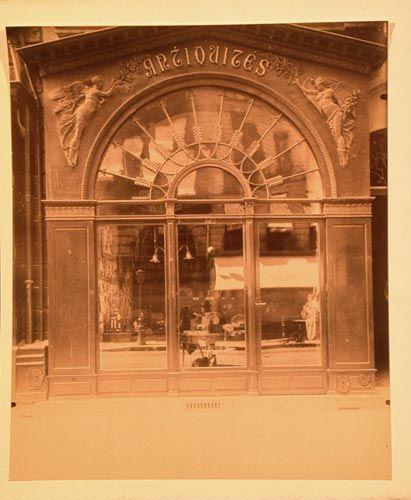 Eugene Atget Boutique Empire. 21 rue du Faubourg Saint-Honore, 1902-03