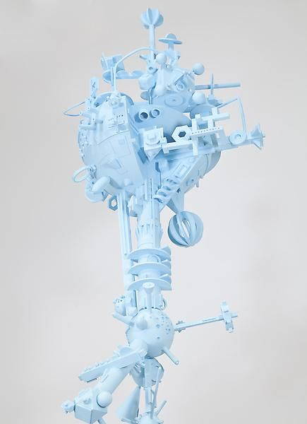 Tom Friedman, Untitled (blue space station), 2012