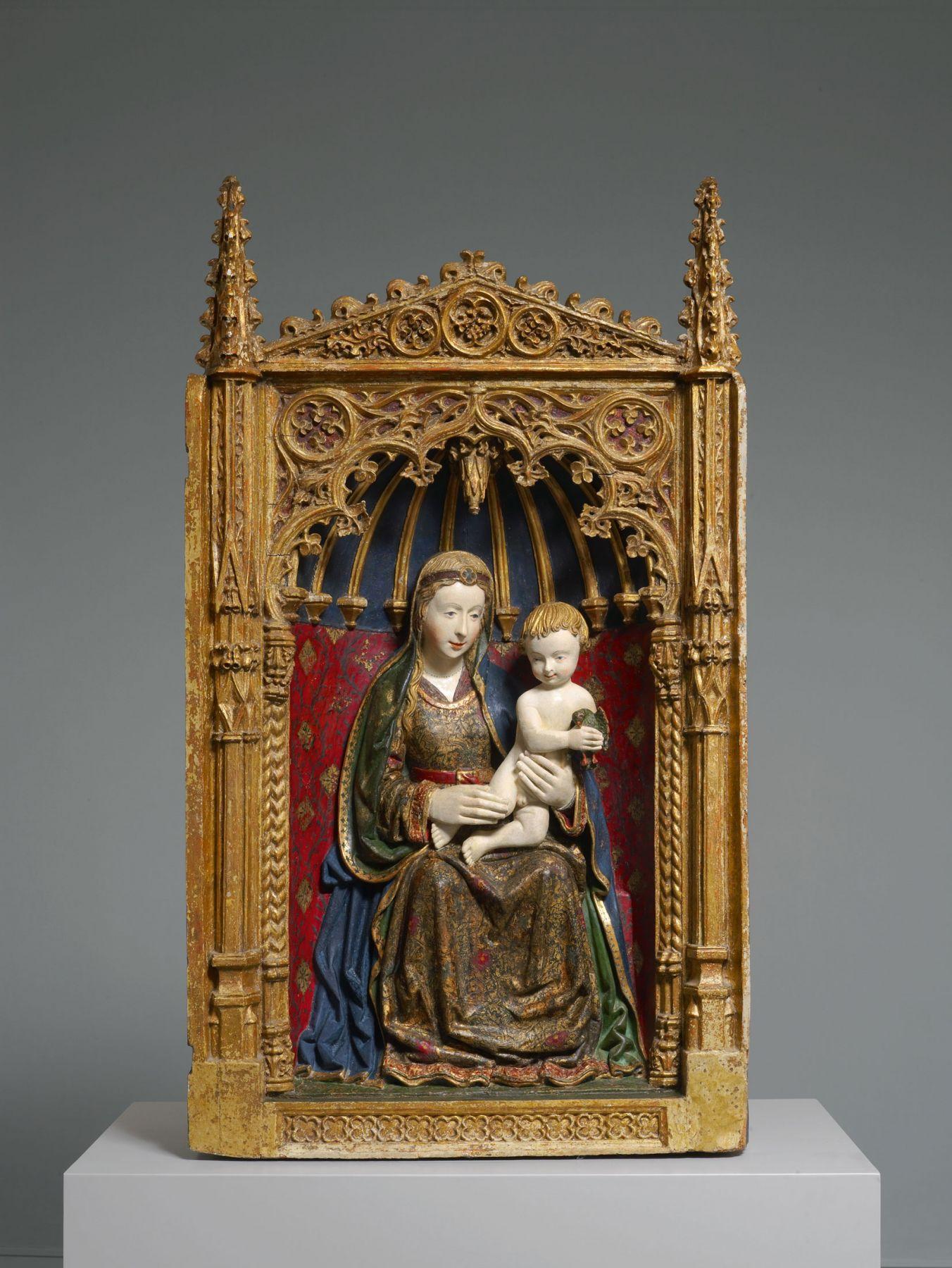 Workshop ofGil de Siloé(c. 1440-1501) andDiego de la Cruz(fl. 1482-1500), A gilded shrine showing the Virgin and Child