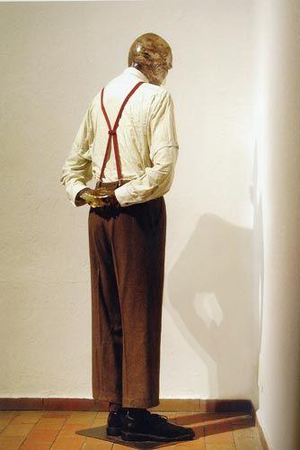 Martin Kippenberger, Martin, Ab in die Ecke und Scham Dich (Martin, stand in the corner and shame on you), 1989