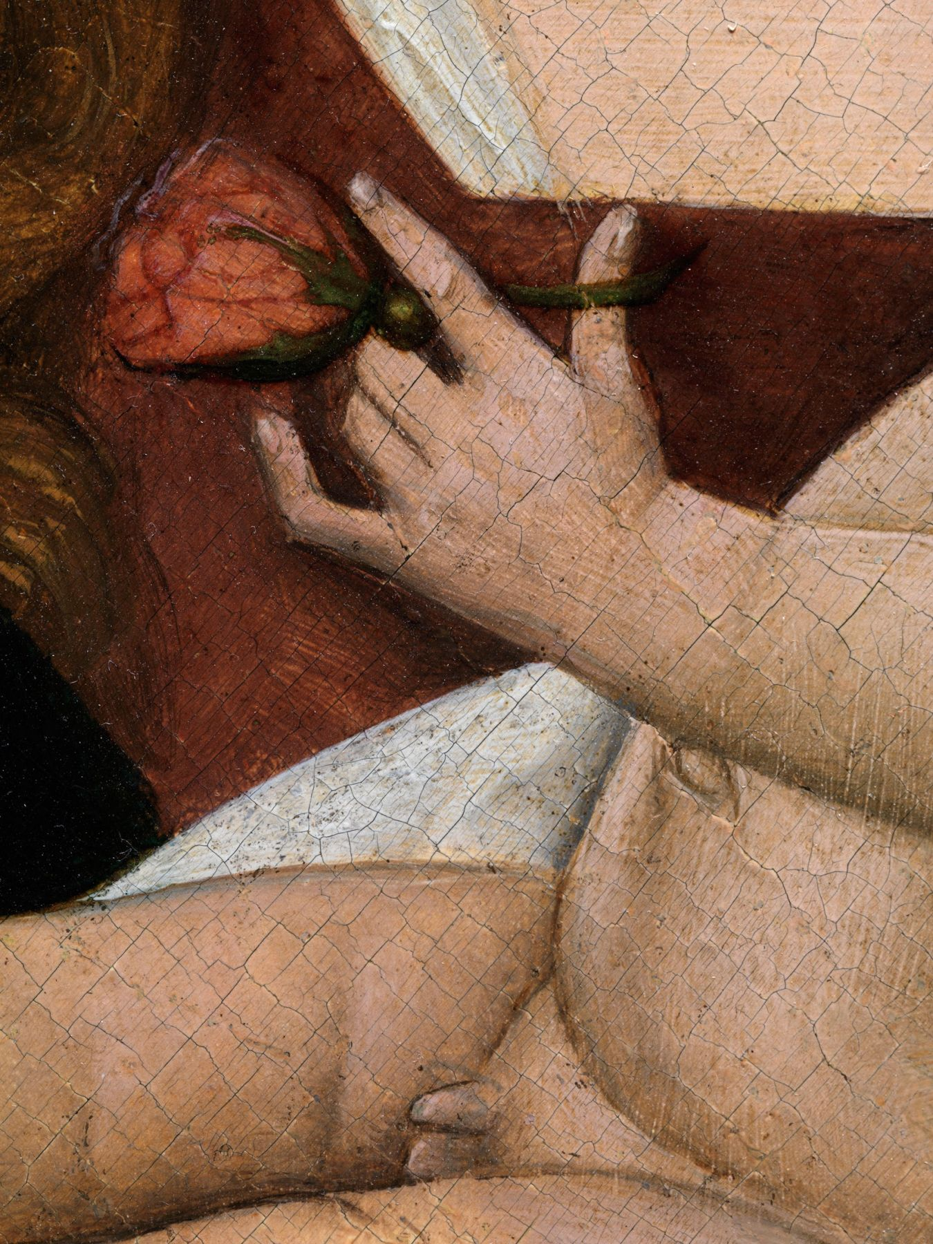 German or Southern Netherlandish Master, The Virgin and Child (detail)