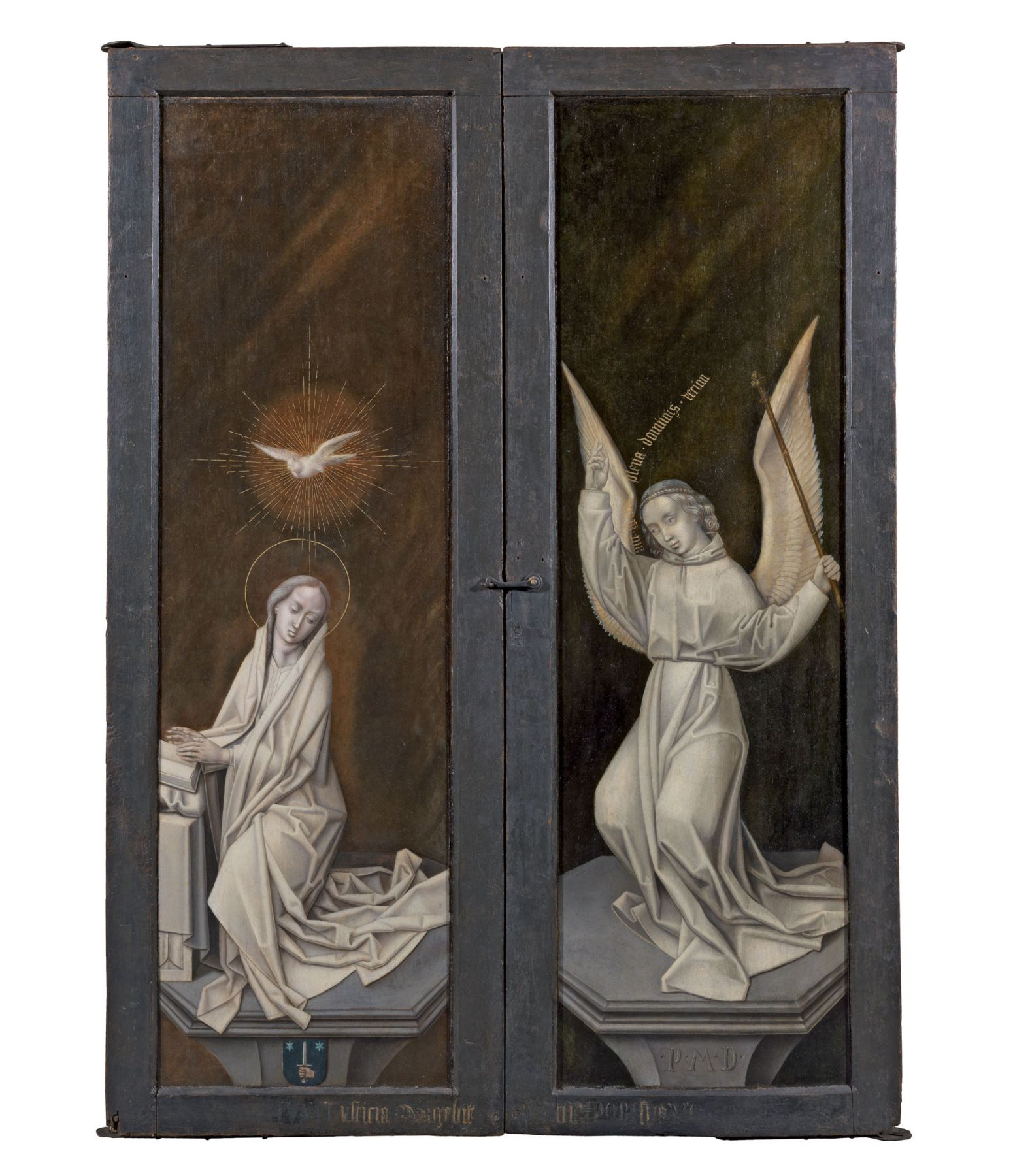 The Master of 1499(Ghent or Brussels, fl. c. 1490-c. 1520), Outer wings of theTriptych of the Virgin and Child depicting the Annunciation of the Virgin