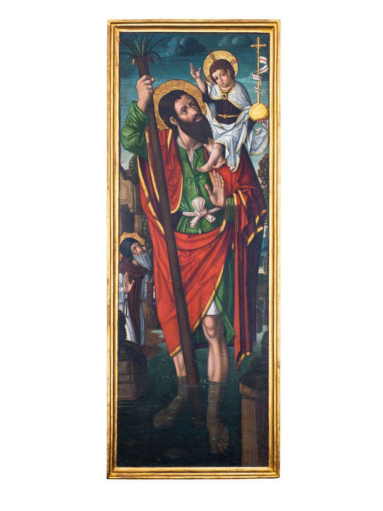 Nicolás Falcó (c. 1470-1531), Saint Christopher carrying the Christ Child