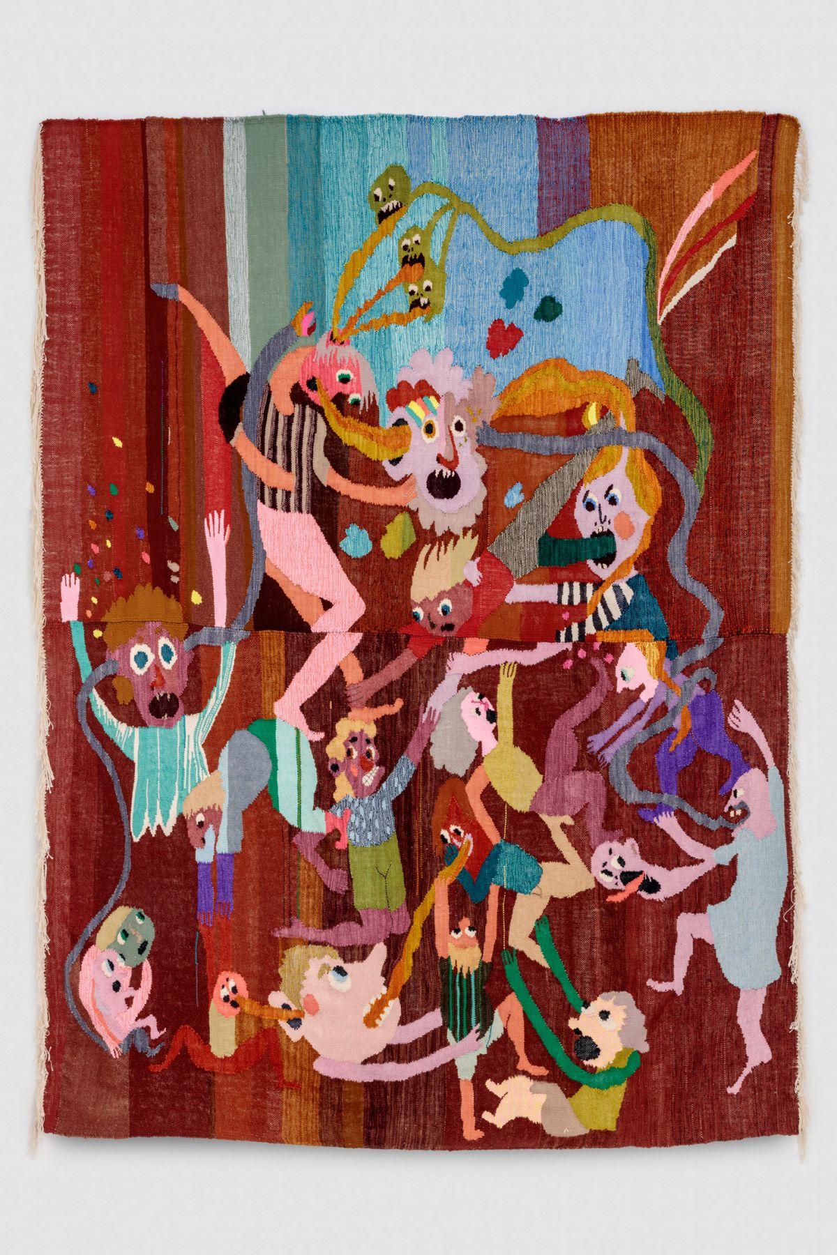 Christina Forrer, Untitled (brown background), 2018