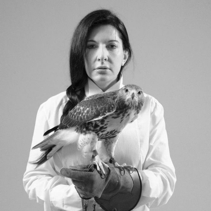 MARINA ABRAMOVIC, Portrait with Falcon, 2010