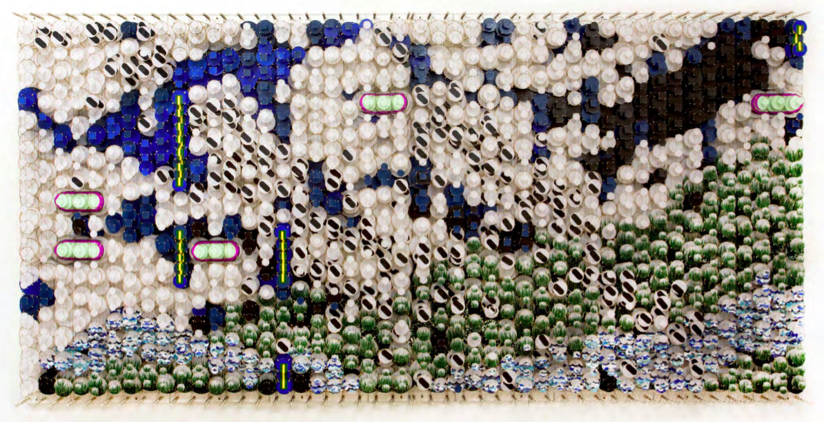 Jacob Hashimoto The Answers to all Questions Makes the World Vanish, 2017