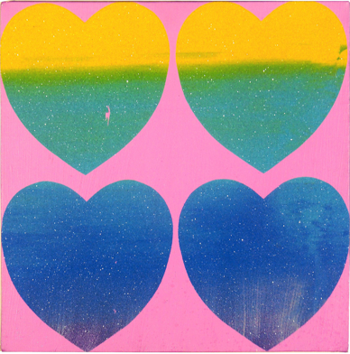 Andy Warhol  Four Hearts, 1983