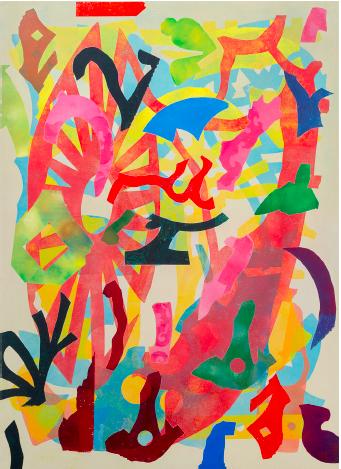 Philip Taaffe, Averroes, 2016