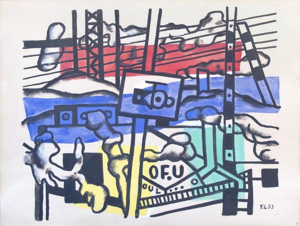 FERNAND LÉGER, Paysage, 1953