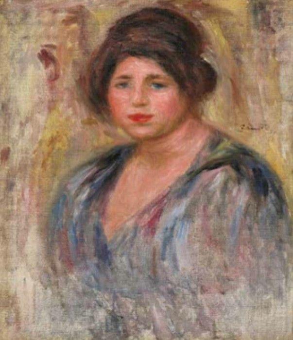 PIERRE-AUGUSTE RENOIR, Portrait de Femme (Gabrielle Renard), 1912