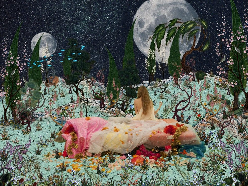 SHOJA AZARI , The Heavenly Bed (The King of Black), 2013