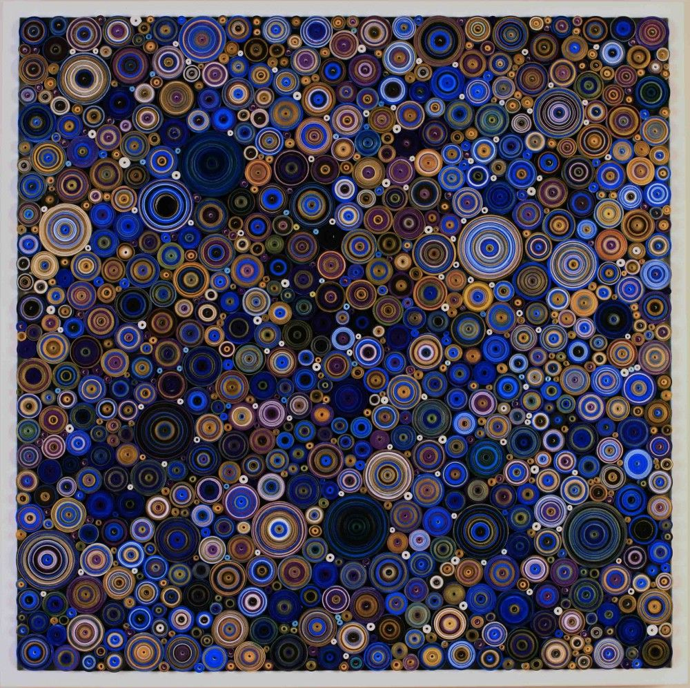 HADIEH SHAFIE, Five Colors: Ultramarine Blue, Violet, Black, Bronze and White (Ketab series), 2013