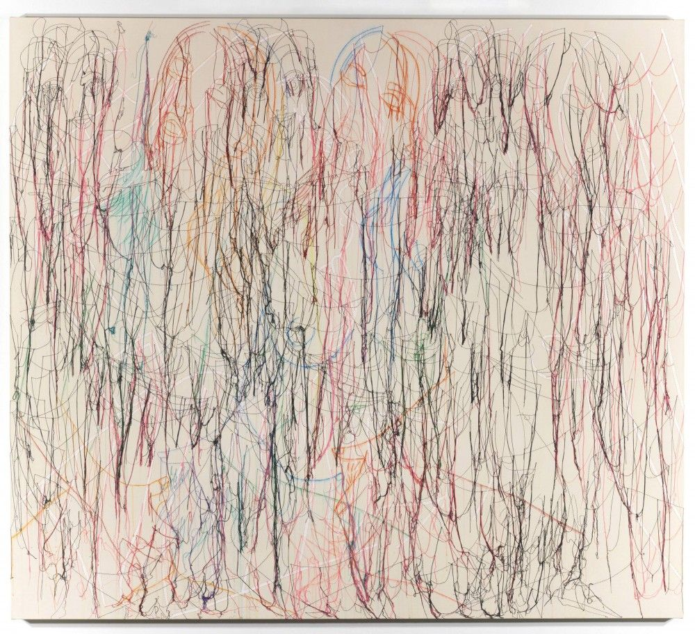 GHADA AMER, Belles and the White Kiss, 2006