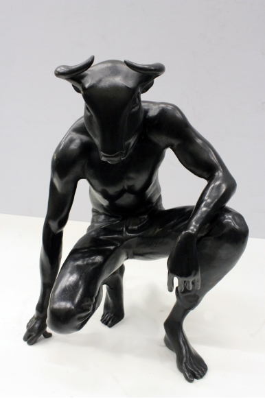 Action 183, 2016, Bronze, 12.6 x 9.4 x 7 in / 32 x 24 x 18 cm