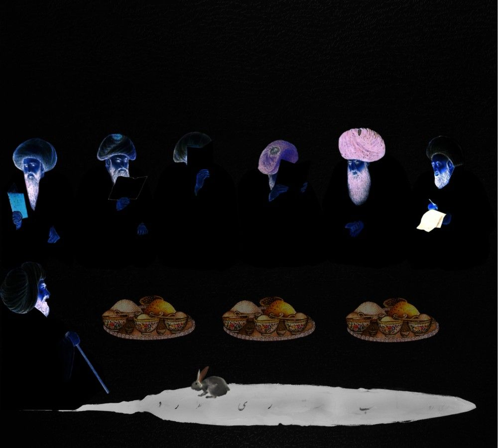 FARIDEH LASHAI, Keep Your Interior Empty of Food that You Mayest Behold Therein the Light of Interior (video still), 2010-2012