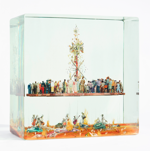 Dustin Yellin Stage with Antenna, 2016