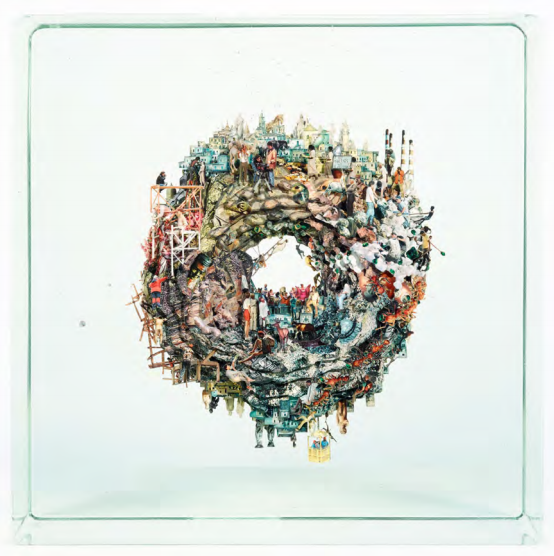Dustin Yellin  Planet Donut, 2017