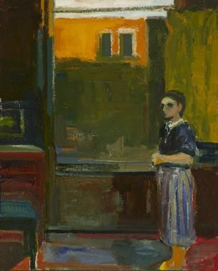 Elmer Bischoff Woman with Striped Skirt