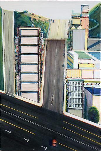 Wayne Thiebaud Five Streets Down, 1986