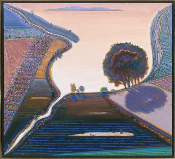 Wayne Thiebaud River Ponds Study, 1998