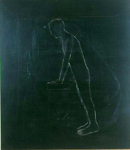Figure in Room, Leaning