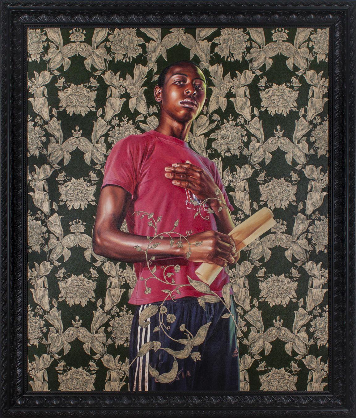Kehinde Wiley, Portrait of Dacdjo Ndie Joseph, 2015