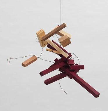 Untitled 2003-2005 wood, wire and casein