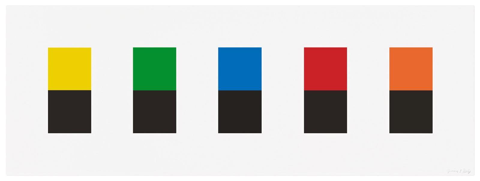 Ellsworth Kelly, Color Over Black, 2012