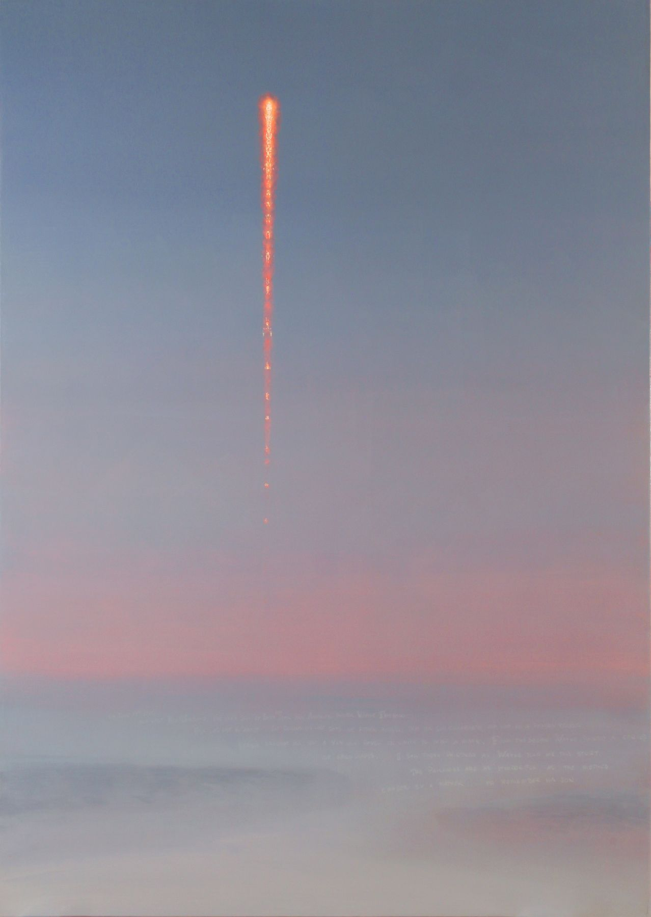 Stephen Hannock, Paul's Rocket at First Light (Mass MoCA #152), 2011