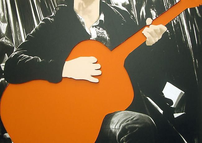 John Baldessari Person with Guitar (Orange), 2005
