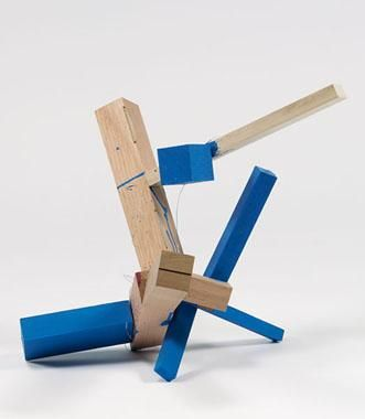 Untitled 2004 wood and casein
