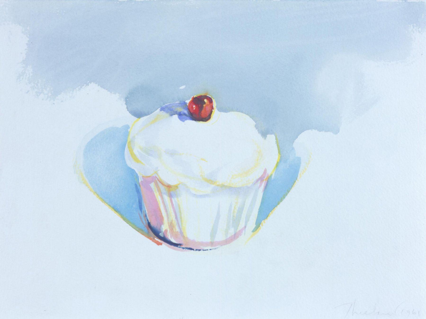 Wayne Thiebaud, Cupcake, 1961