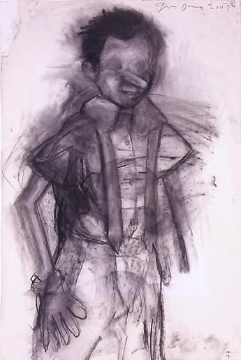 Frantic 2007 charcoal on paper