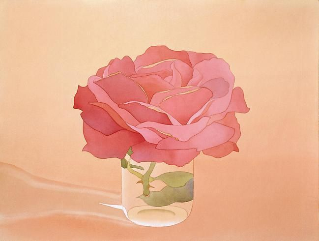 Mark Adams Pink Rose in Glass